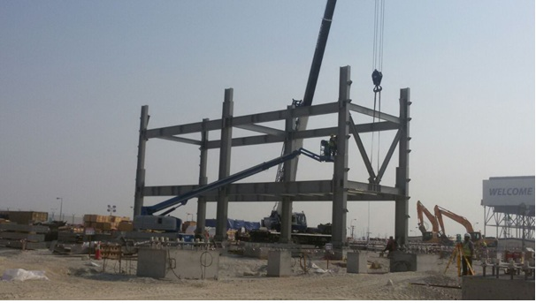 Structural steel erection works for ECB, Power Plant at ALBA